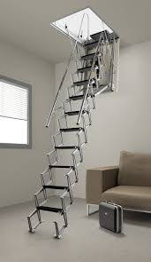 hidden retractable aluminium attic ladder hidden 4 the home