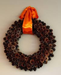crafts pinecone wreath huffpost