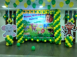 Balloon Decoration At Home Dfhqrm Com Sports Themed Baby Shower Decorations Duck Themed