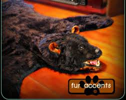 Taxidermy Bear Rug Hand Made Bear Skin Rug With Head Faux Fur Taxidermy