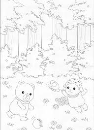 calico critters coloring pages sylvanian families calico critters
