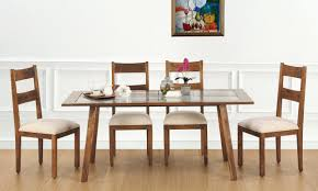 Online Dining Table by Buy Evert 6 Seater Dining Table Glass Top Online In India