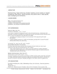intern job description resume template