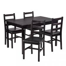 Black Wooden Dining Table And Chairs Wood Dining Table Ebay
