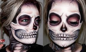 Skeleton Face Painting For Halloween by Skeleton Skull Makeup Tutorial Brianna Fox Youtube