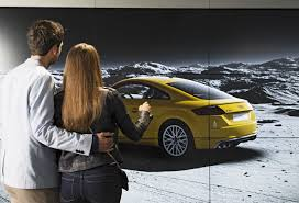 audi digital showroom audi city paris welcome to the car showroom of the future