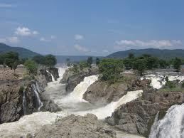 hogenakkal falls are in south india on the kaveri river on the
