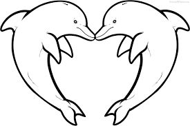 coloring page lovely dolphin color sheet cute coloring pages 6