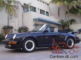 1989 porsche 911 anniversary edition porsche 911 silver anniversary edition cabriolet black satin