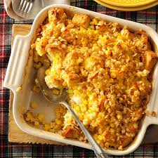 thanksgiving corn side dishes scalloped sweet corn casserole recipe taste of home
