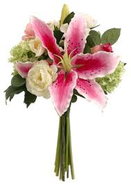 Casablanca Flower - silk plants direct casablanca rose lily and snowball bouquet
