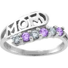 mothers ring 6 stones six rings personalized rings rings jewlr