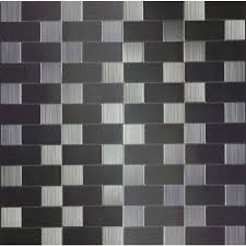 Metal Wall Tiles Kitchen Backsplash Instant Mosaic 12 In X 12 In X 6 Mm Peel And Stick Brushed