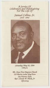 Funeral Programs Online African American Funeral Programs Of San Antonio The Portal To