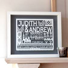 wedding gift ideas uk personalised wedding gift paper cut wall by ant design gifts
