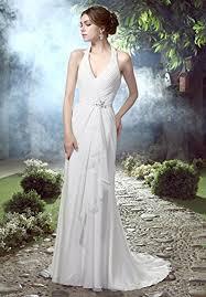 bridal reg helenebridal informal halter v neck chiffon wedding dress