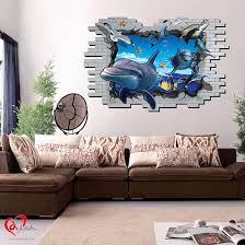 3d sea animals wall stickers art craft online store 3d sea animals wall stickers
