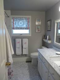 Bathroom Tile Ideas Grey Trendy White Wooden Vanity With White Marble Top Added Wall Mirror