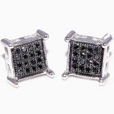 black diamond earrings for men black diamond earrings princess cut allezgisele diamonds