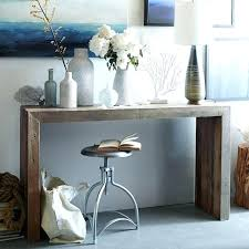 sofa table with stools underneath console table with stools how to decorate with pouf ottomans under