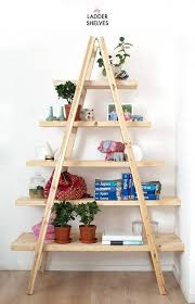 Book Or Magazine Ladder Shelf by 45 Diy Bookshelves That Work Diy Ideas Shelves And Homemade