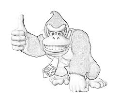 luxury donkey kong coloring pages 94 with additional coloring