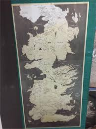 Map Westeros Game Of Thrones World Map Westeros And Essos Tv Poster Game Poster