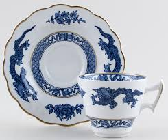 Dragon Coffee Cup Booths Dragon Coffee Cup And Saucer C1950 Lovers Of Blue And White