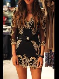 black and gold dress and gold dress