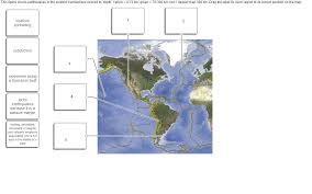 Correct Map Of The World by This Figure Shows Earthquakes In The Western Hemis Chegg Com