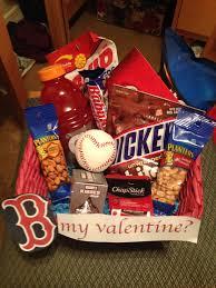 valentine u0027s gift basket for a boyfriend who loves the boston red