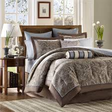 Brown Queen Size Comforter Sets Blue And Brown Bedding Sets U2013 Ease Bedding With Style