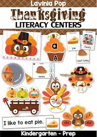 thanksgiving literacy centers for kindergarten in my world