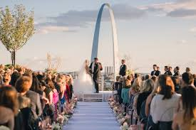 weddings st rooftop ceremony with city views dreamy reception in st louis