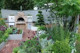 raised bed garden design patio contemporary with cooking garden