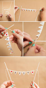 diy cake learn how to make a darling and simple bunting cake topper