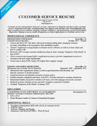 customer service representative resume customer service resume sle resume companion