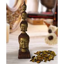 Buddha Home Decor Statues by Lord Buddha Statue Size 26 5 Cm X 6 Cm Golden