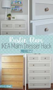 Malm Ikea Nightstand Ikea Malm Dresser Hack For A Rustic Glam Nursery