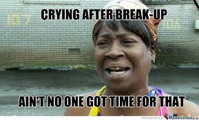 Funny Break Up Memes - crying after break up by iamsnyder meme center