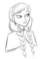 coloring nice frozen anna drawing drawn disney 17 coloring