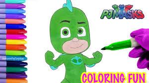 pj masks gekko coloring page fun coloring activity for kids