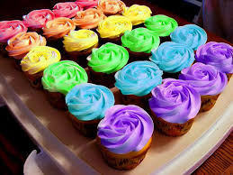 bright rainbow icing food coloring cool cupcakes madi bday