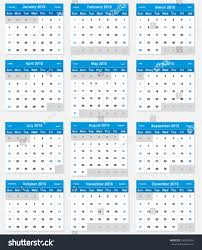 vector design template calendar 2015 stock vector 230491654