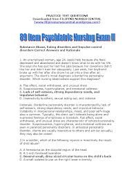 89 item psychiatric nursing exam ii alcoholism personality