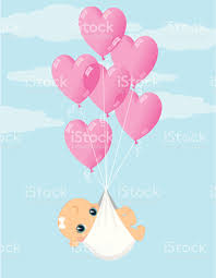 balloon delivery baby girl balloon delivery stock vector 165754171 istock