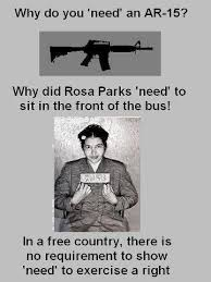 Rosa Parks Meme - gun nuts comparing ar 15s to rosa parks gun movement to martin