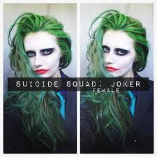 squad joker makeup u0026 hair female makeup and vfx