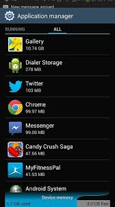 android dialer storage memory gallery android forums at androidcentral