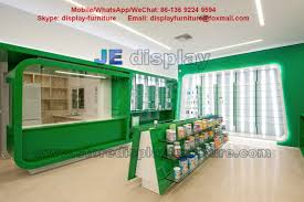 Wooden Wall Display Cabinets Wall Display Cabinet With Glass Shelves For Store Furniture In Led